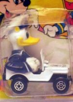 Mickey and friends - Die-cast Vehicle Matchbox - Donald in Police Jeep (mint on card)