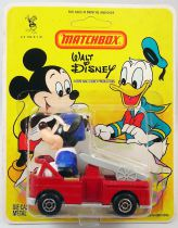 Mickey and friends - Die-cast Vehicle Matchbox - Mickey in Fire truck (mint on card)