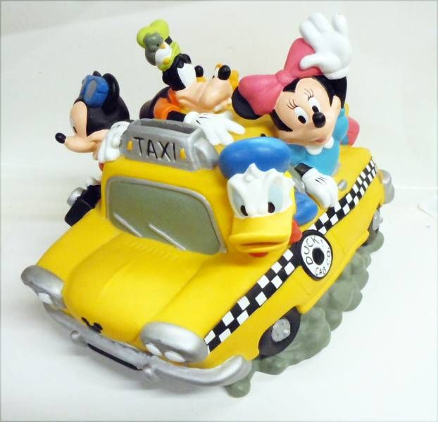 mickey et ses amis tirelire vinyl disney mickey et ses amis en taxi. Black Bedroom Furniture Sets. Home Design Ideas