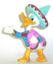 Mickey and friends - Jim Plastic Figure - Donald as mexican (blue hat)