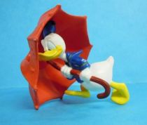 Mickey and friends - Kid\'M 1995 PVC Figure - Donald and his umbrella