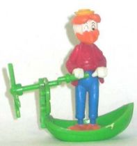 Mickey and friends - Kinder Premium Collapsible Plastic Figure - Gyro Gearllose with propeller boat