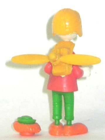 Mickey and friends - Kinder Premium Collapsible Plastic Figure - Gyro Gearllose with props back-pack