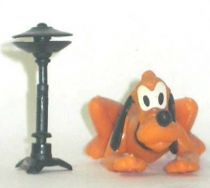 Mickey and friends - Kinder Premium Collapsible Plastic Figure - Pluto laying with cymbals
