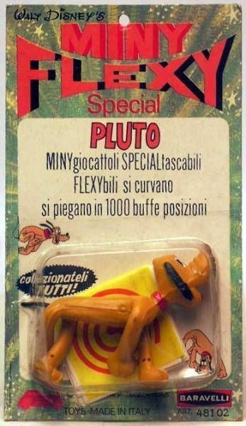 Mickey and friends - Mini-Flexy (FAB / Baravelli) 1969 - Pluto