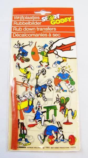 Mickey and friends - Pressers Rub-Down Transferts - Sport Goofy #1