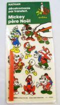 Mickey et ses amis - Déclacomanie par transfert Nathan - Mickey Père Noël