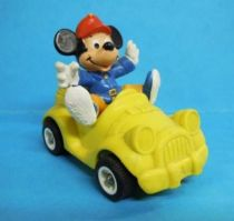 Mickey et ses amis - Figurine PVC Bully 1986 - Mickey en voiture