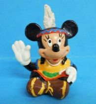 Mickey et ses amis - Figurine PVC Bully 1991 - Minni indienne