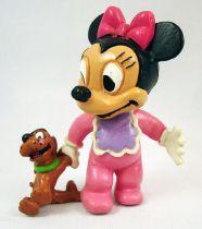 Mickey et ses amis - Figurine PVC Comics Spain - Bébé Minnie avec peluche Pluto