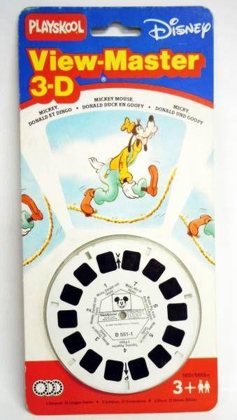 Mickey et ses amis pochette de 3 view master 3 d - Donald et dingo ...