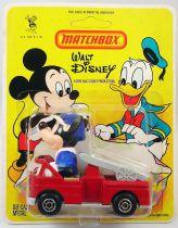 Mickey et ses amis - Véhicule en Métal Injecté Matchbox - Mickey en camion pompier (neuf en blister)