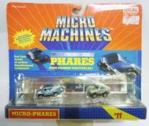 Micro Machines - Galoob - 1990 #11Micro Lights (MB 450 SL & Ford Van)