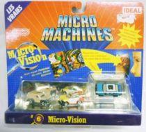 Micro Machines - Galoob - 1990 #6 Private Eyes (Porsche 959, \'55 Van Panel & Taurus)