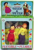 Mint in french box Heidi & Pedro (Peter) bendables Brabo
