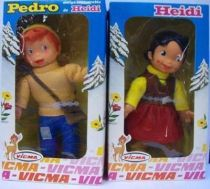 Mint in individual boxes Heidi + Pedro (Peter) 8\'\' Dolls Vicma