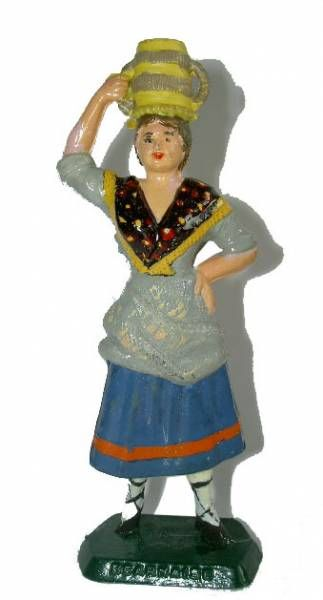 Mokarex French Regional Costumes (painted ronde bosse) Bearnese Woman