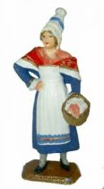 Mokarex French Regional Costumes (painted ronde bosse) Normand Woman