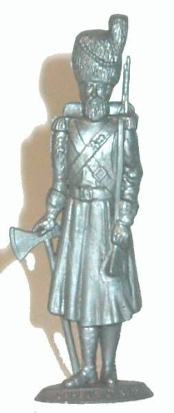 Mokarex Napoleonics (demi-rond de bosse) Infantry Sapeur