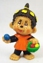 Monchichi - Bully pvc figure - Girl with fruit basket