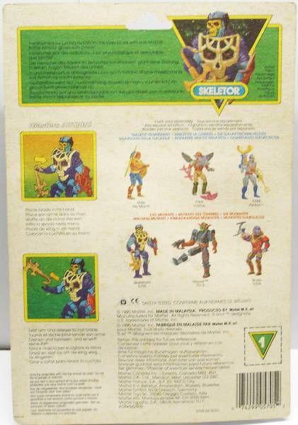 MOTU New Adventures of He-Man - Battle Blade Skeletor (Europe card)
