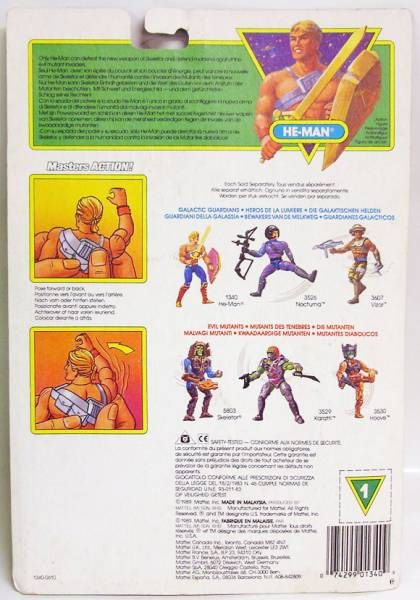 MOTU New Adventures of He-Man - Battle Punching He-Man (Europe card)