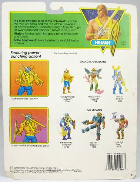MOTU New Adventures of He-Man - Thunder Punch He-Man (USA Card)