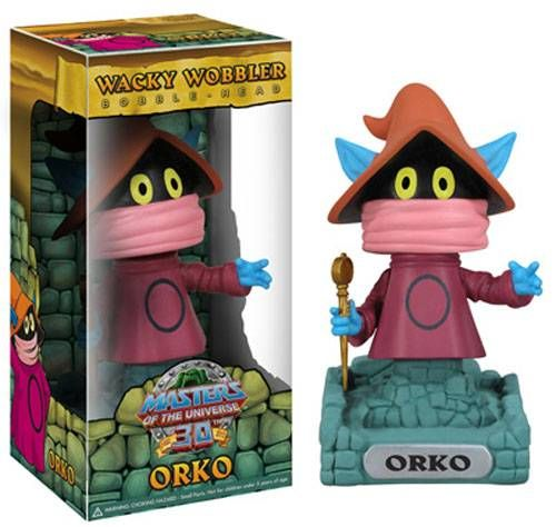 MOTU Wacky Wobbler Funko - Set of 4 Bobble-Head figures : He-Man, Skeletor, Beast-Man, Orko
