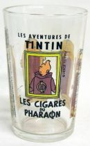 Mustard glass Amora Tintin Cigars of the Pharaoh