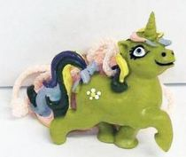 My Little Pony - Comic Spain - Green Unicorn with flower - PVC necklace figure