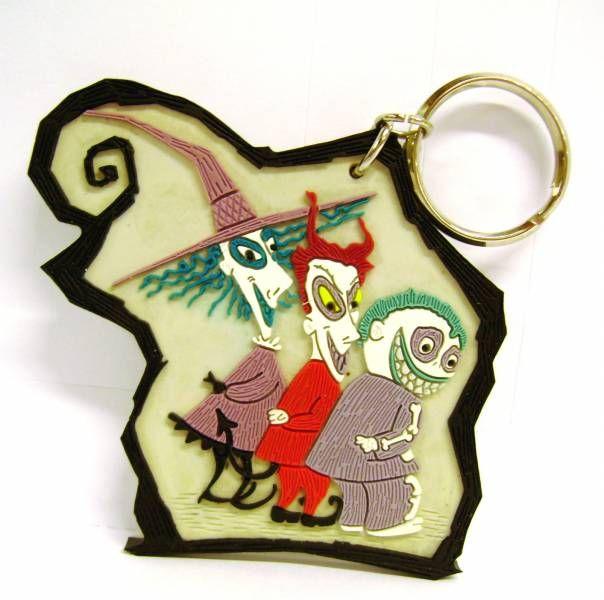 Nightmare before Christmas - Applause - Lock Shock & Barrel Key Chain