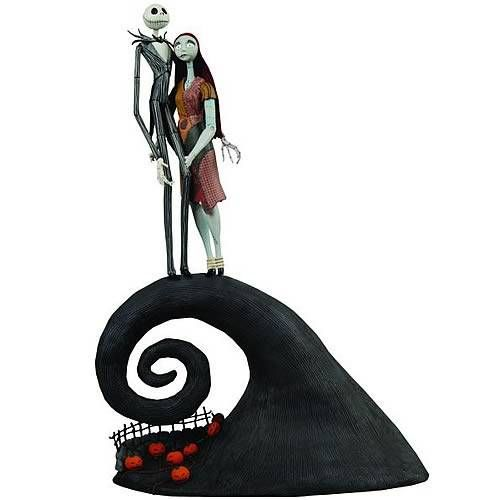 Jack And Sally On Spiral Hill Cake Topper