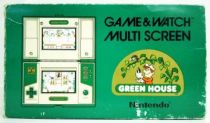 Nintendo Game & Watch - Multi Screen - Green House (loose with box)