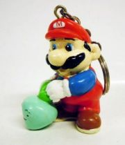 Nintendo Universe - Mario Bros. - Applause Keychain PVC Figure - Mario with vegetable