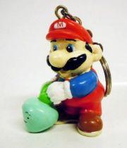 Nintendo Universe - Mario Bros. - Applause Keychain PVC Figure - Mario with vegetable