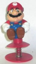 Nintendo Universe - Mario Bros. - Jump-up Plastic Figure - Mario on spring
