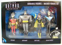 NJCroce - The New Batman Adventures - Bendable Figures - Masked Heroes Set