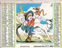 Nobody\\\'s Boy Remi - 1983 Post Office Calandar