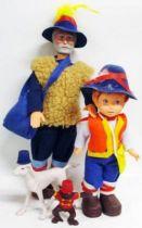 Nobody\\\'s Boy Remi - Polistil doll set - Master Vitalis, Remi, Capi & Joli-Coeur (loose)