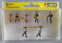 Noch 15051 Ho Sncf 5 Menuisiers Charpentiers & Accessoires Neuf Boite