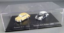 Norev for Atlas Ho 1/87 1954 Renault 4cv cream + 1955 4cv Police Mint in box
