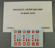 Norev Provence Moulage Decals Sheet for Peugeot 908 HDI FAP 1/43 1:43