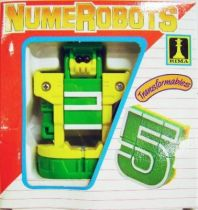 NumeRobots - Number 5 (Green & White)