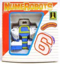 NumeRobots - Number 6 (Blue & Yellow)