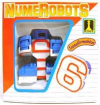 NumeRobots - Number 6 (White & Red)