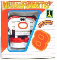 NumeRobots - Number 8 (White & Red)