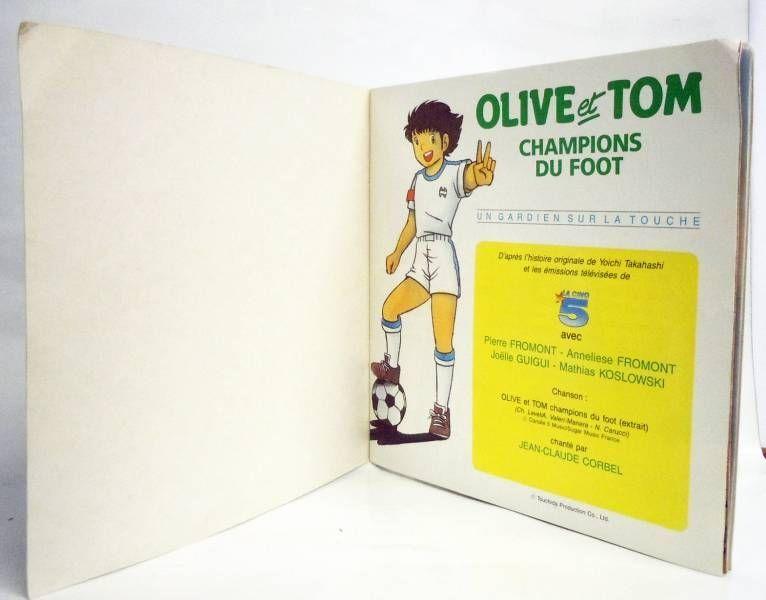 Olive & Tom - Livre-Disque 45T - Un gardien sur la touche - Disque Ades / Le Petit Menestrel 1988