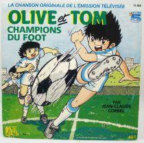 Olive & Tom Champions de foot - Disque 45T - Générique de l\'émission TV - Disques Adès 1986