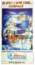 Once upon a time... Space - Stenval - Sticker Collector Poster