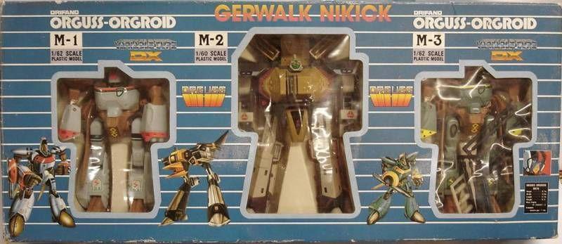 Orguss - Gerwalk Nikick + 2 Orgroids - Mint in box